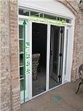 Double Door Retractable Door Screen, Up to 82' Tall & 72' Wide