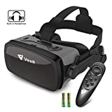 VeeR Falcon VR Headset with Controller, Eye Protection Virtual Reality Goggles to Comfortable Watch 360 Movies for Android, Samsung, Huawei and iPhone (only for 4.7-6.2inch)