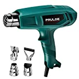 Heat Gun, PRULDE HG0080 Dual Temperature Hot Air Gun Kit with 4 Nozzle Attachments for Crafts, Shrink Wrapping, Shrink Tubing, Paint Removing