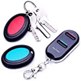 Vodeson KeyTag Key Finder Remote Control Finder, Easy to Use Suitable for The Elderly Key Locator Device,Whistle Phone Keychain Finder,Item Tracker,1 RF Transmitter 2 Receivers