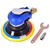 GTrim Air Palm Random Orbital Sander Dual Action Pneumatic Polisher Speed Adjustable Grinding Sanding w/Pad (6 inch)