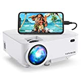 TOPVISION Mini Projector 4000LUX Outdoor Movie Projector with Screen Mirroring, Video Projector 1080P Supported Compatible with Fire Stick,HDMI,VGA,USB,TV,Box,Laptop,DVD
