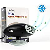 UPEOR Portable Car Heater,Car Defroster Defogger,Portable Auto Electronic Car Heater with Heating & Cooling Function Plug Adjustable Thermostat in Cigarette (BLACK)