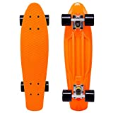Cal 7 Complete Mini Cruiser | 22 Inch Micro Board | Vintage Skateboard for School and Travel (Monarch)