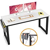 Cubiker Computer Desk 55' Modern Sturdy Office Desk Large Writing Study Table for Home Office with Extra Strong Legs, Espresso
