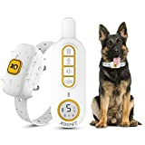 KOSPET Dog Training Collar - Rechargeable Dog Shock Collar with Remote,Beep,Vibration and Shock 3 Training Modes,1644Ft/548 Yard Remote Range,Waterproof Anti Barking Collar for Small Medium Large Dogs