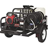 NorthStar Trailer-Mounted Portable Hot Water Commercial Pressure Power Washer - 4000 PSI, 4.0 GPM, Direct Drive, Honda Engine, 200-Gal. Water Tank