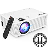 2020 Latest Projector, Mini Video Projector with 5500 Brightness, 1080P Supported, Portable Outdoor Movie Projector, 176' Display Compatible with TV Stick, HDMI, USB, VGA, AV for Home Entertainment