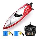 Powerextra Remote Control Boat, High Speed H106 Rc Boat for Pools and Lakes, 20+ MPH 2.4 GHz Racing Boats for Adults, LCD Low Battery Alarm, Birthday Gifts for Boys Girls