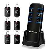 Key Finder, Stick on Remote Finder Locator Tags | 6 Pack Wireless Wallet Car Key & TV Remote Control Finder, 95dB RF Beeper Key Finders That Make Noise | Item Finder Remote Tracker for Phone & Glasses