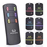 WOSPORTS Key Finder, Item Tracker Wireless RF Item Locator with Loud Beeping Sound,100ft Support Remote Control,Upgrade Long Lasting Batteries, Mini Key Tracker with Anti-Lost Tag and Keychain