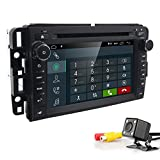 hizpo 7 Inch Double Din in Dash Car DVD Player IPS Touchscreen Android 9.0 Car Navigation Stereo FM/AM Radio Receiver Bluetooth for GMC Chevrolet Buick Silverado Sierra + Backup Rear View Camera