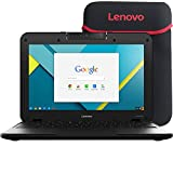 Lenovo N21 11.6 inches Chromebook Laptop, Intel N2840 2.16GHz Dual-Core, 16GB Solid State Drive, 802.11ac, ChromeOS (Renewed)
