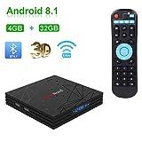 Greatlizard Android 8.1 T9 TV Box 4GB DDR3 32GB EMMC Quad Core 32bit Support 4K HD 2.4G WiFi Bluetooth