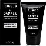 RUGGED & DAPPER Age + Damage Defense Facial Moisturizer   Dual Purpose Face Lotion & Aftershave for Men - 4 Oz