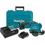 Makita SH02R1 12V Max CXT Lithium-Ion Cordless Circular Saw Kit, 3-3/8'