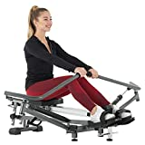 Murtisol Full Range Rowing Machine Folding Rower Mimic Real Rowing with 12 Levels Hydraulic Resistance,10 Levels Leg & 3 Levels Incline Adjustment,3.5 inches LCD Display,30 min to Assemble