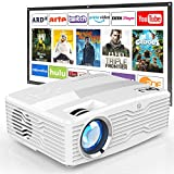 [Full HD Native 1080P Projector with 100Inch Projector Screen] 7500Lumens LCD Projector Full HD Projector Max 300' Display, Compatible with TV Stick, HDMI, AV VGA, PS4, Smartphone for Outdoor Movies