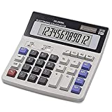 Calculator,BREIS Standard Function Deskttop Electronic Calculators 12 Digit Large LCD Display and Big Button for Daily Basic Office (Black)