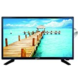 SuperSonic SC-2412 LED Widescreen HDTV & Monitor 24', Built-in DVD Player with HDMI, USB, SD & AC/DC Input: DVD/CD/CDR High Resolution and Digital Noise Reduction