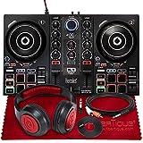 Hercules DJControl Inpulse 200 Compact DJ Controller + Headphone + Basic Accessory Bundle