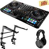 Pioneer DDJ-1000 Professional 4-Channel Controller for Rekordbox DJ Bundle with Gearlux Laptop Stand, Headphones, and Austin Bazaar Polishing Cloth