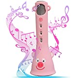 TOSING Wireless Karaoke Microphone for Kids, Top Birthday-Gifts for Girls, Best Present Toys for Kids Girls 4 5 6 7 8 9 Years Old, for 10 11 12 Yrs Teenager, Bluetooth Karaoke Machine