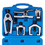 Orion Motor Tech 5pc Ball Joint Separator, Pitman Arm Puller, Tie Rod End Tool Set for Front End Service, Splitter Removal Kit (BL06)