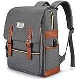 Ronyes Unisex College Bag Fits up to 15.6'' Laptop Casual Rucksack Waterproof School Backpack Daypacks (Gray)