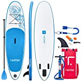 redder Stand Up Paddle Board Inflatable SUP Board Vortex All Round Adult and Kids Paddle Board with Leash, Paddle, Backpack, Pump, Repair Kit, Non-Slip Deck | 10' Long 31' Wide 4.75' Thick
