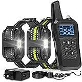 FunniPets Dog Training Collar, 2600ft Range Dog Shock Collar Waterproof Shock Collar for 2 Dogs with 4 Training Modes Light Static Shock Vibration Beep