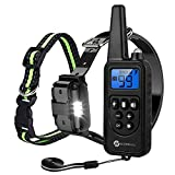 Slopehill Dog Training Collar with Beep, Vibration, Shock and Light Training Modes, Rechargeable Dog Shock Collar with Long Remote Range, Waterproof, Adjustable