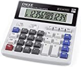 Calculator,Standard Function Desktop Electronic Calculators 12 Digit Large LCD Display and Big Button for Daily Basic Office (DL-200)