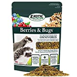 Berries & Bugs - All Natural High Protein High Fiber Food for Hedgehogs, Skunks, Opossums, Sugar Gliders - Universal Insectivore Diet with Fruit, Gut-Loaded Insects, & Healthy Vitamins (1.5 lb.)