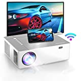 Bomaker 2021 Upgraded Projector, Native 1920 x1080p , 4K Supported, 6D ±50° X/Y Keystone and ±50% Zoom Out, 300 ANSI Lumen, Full HD Outdoor Movie Projector, for TV Stick, Android,HDMI, PCs