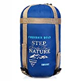 Forbidden Road Backpacking Sleeping Bag - 3 Season Warm & Cool Weather, Portable Single Sleep Bag Lightweight Water Resistant Semi Envelope for Camping Hiking Backpacking - Compression Bag Included