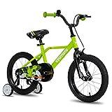 CYCMOTO Hawk 14' Kids Bike with Hand Brake & Training Wheels for 3 4 5 Years Boys, Toddler Bicycle Green
