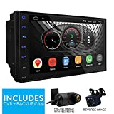 UGAR 7' EX8 Android 8.1 Universal Car Stereo 2GB 16GB Head Unit Double Din Touch Screen Radio Auto Car Audio Indash GPS Navigation with Bluetooth WiFi Mirroring with Backup Camera + DVR Camera
