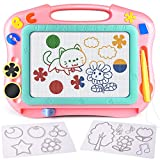 FLY2SKY Magnetic Drawing Board Kids Magnet Drawing Board Travel Size Toddler Toys Sketch Writing Colorful Erasable Sketching Pad Holiday Birthday Gifts Girl Boy Educational Learning Toy