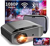 1080P Projector - Artlii Energon 2 Full HD WiFi Bluetooth Movie Projector Support 4K, 7000L 300' Display, Compatible with HDMI, iPhone, Android for Home Theater, PPT Presentation