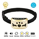 Dog Bark Collar -7 Adjustable Sensitivity and Intensity Levels-Dual Anti-Barking Modes Rechargeable/Rainproof/Reflective -No Barking Control Dog shock Collar for Small Medium Large Dogs