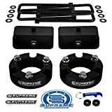 Supreme Suspensions - Full Lift Kit for 2005-2020 Toyota Tacoma 3' Front Lift Strut Spacers + 2' Rear Lift Tapered Blocks + Square Bend U-Bolts 2WD 4WD (Black)