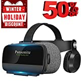 Pansonite Virtual Reality Headset with HD Glass Lens,Virtual Reality Goggles 3D VR Goggles VR Headset VR Glasses for 3D Video Movies Games, Compatible with Smartphones Within 4.7-6.2 Inch