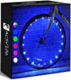 Activ Life Bike Wheel Lights (1 Tire, Blue) Best Bike Lights for Men & Cool Gifts & Birthday Boys 4 5 6 7 8 9 10 Year Old. Top Unique 2021 Ideas for Him, Dad, Brother, Uncle