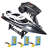 MOSTOP HJ806 RC Boat 2.4GHz High Speed Remote Control Racing Boat 35KM/H RC Speedboat 200m Control Distance for Kids Adults, 3 Batteries