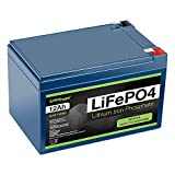 ExpertPower 12V 12Ah Lithium LiFePO4 Deep Cycle Rechargeable Battery   2500-7000 Life Cycles & 10-Year lifetime   Built-in BMS