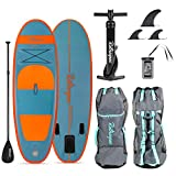 Retrospec Weekender-Nano 8ft. Inflatable Stand Up Paddleboard Triple Layer Military Grade PVC iSUP Bundle