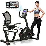 SNODE Magnetic Recumbent Exercise Bike, Indoor Home Training Machine with 16 Levels Resistance(2019 New Model: R690i)