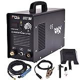 Goplus CUT-50 Electric Digital Plasma Cutter Inverter 50AMP 110-220V Dual Voltage Welder Cutting with Free Mask (Black)