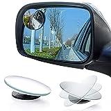 Blind Spot Car Mirror, 2' Round Wide Angle Adjustable Blind Spot Mirror, HD Glass Convex Rear View Mirror , Ultra-thin Frameless Blind Spot Mirror for Vehicle Automotive Trucks SUV, 2PCS